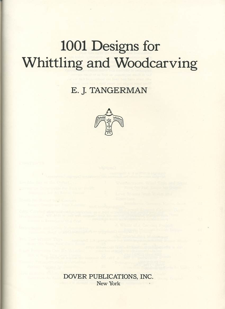 1001 designs for whittling and woodcarvings - 1001 проект для миниатюрной...