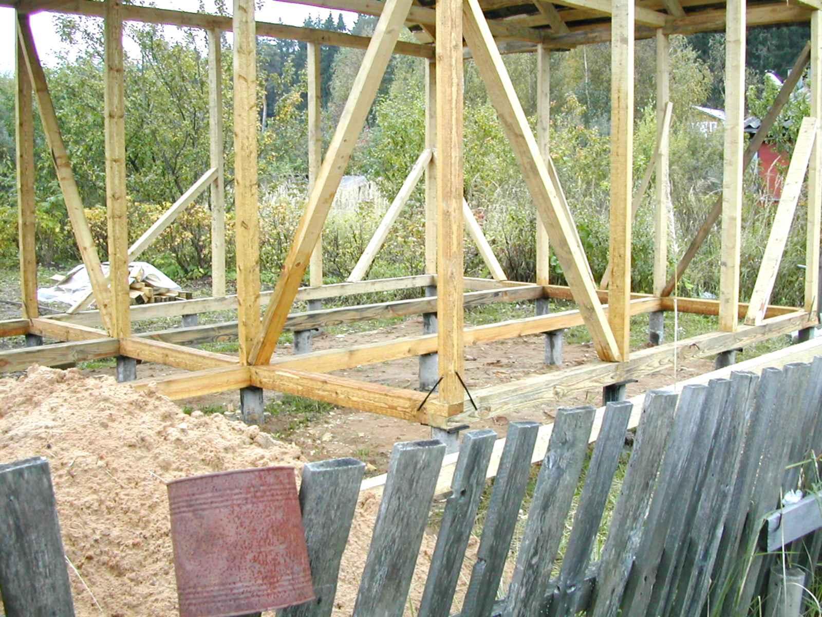 Как построить каркасное строение своими руками