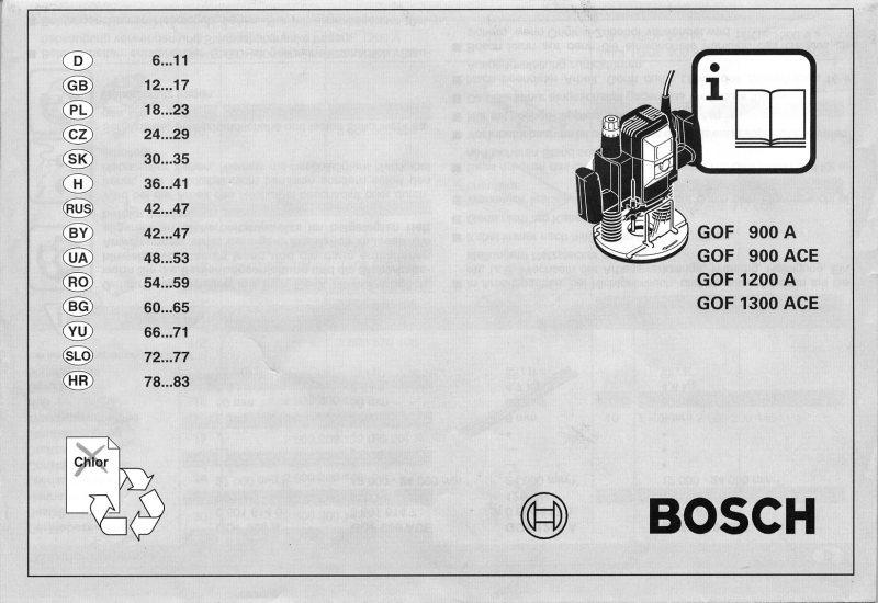 Bosch Gof 1300 Ace инструкция - фото 6