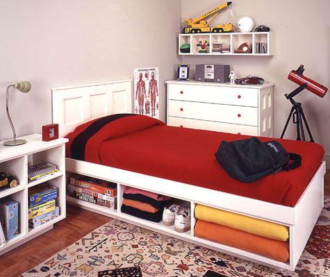 Woodworking guide build great kid 39 s furniture - Loft bed met opbergruimte ...