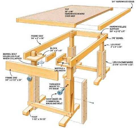 Collapsible Work Table