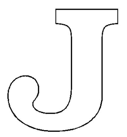 Alphabet numbers block patterns for J coloring pages