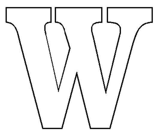 Letter W Template - Twenty.Hueandi.Co