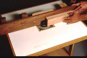 Router table fence jeff greef woodworking this rather elaborate router table fence has clamps built into it to secure it to the table as well as an adjustment for fine tuning the distance of the keyboard keysfo Choice Image